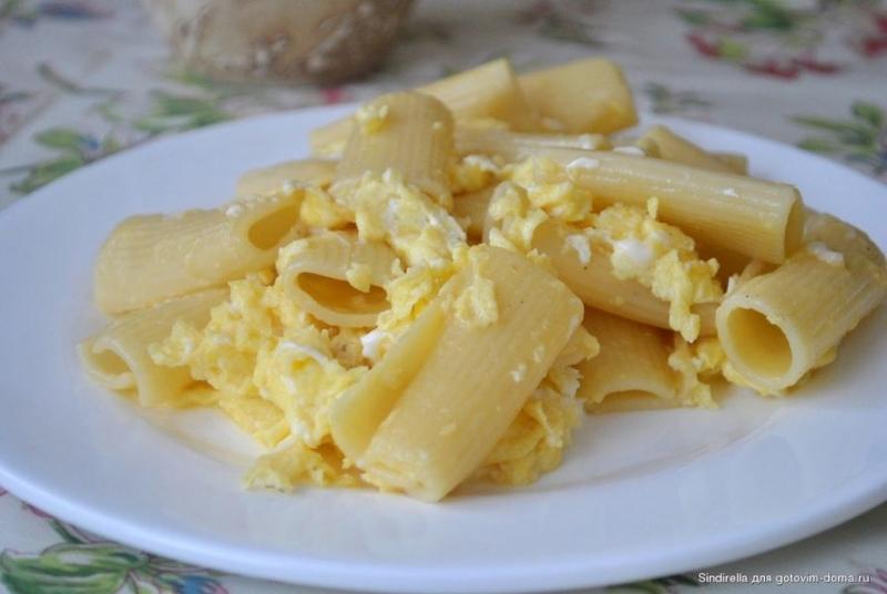 Макароны с яйцом рецепт с фото